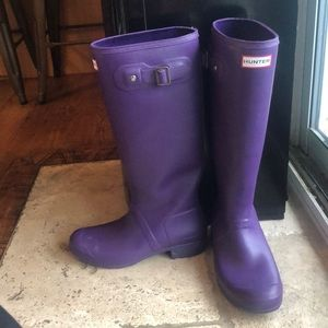 HUNTER boots purple